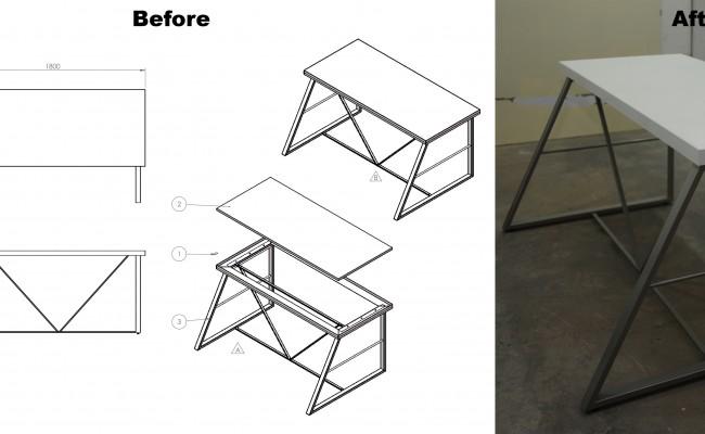 M03-148-SA3 Table Assembly